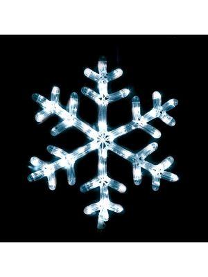 Motivo natalizio Cristallo di Neve h 44 cm - Flashled Diamond - bianco ghiaccio