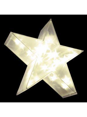 Decorazione Stella Magic 3D 24 Led - luce fissa - bianco classic