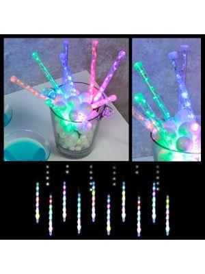 Catena 8 m - 10 Mini Lightfall Led - effetto neve - multicolor