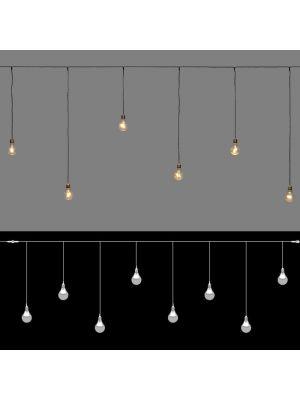 tenda ice light 8 lampadine old style vintage 48 miniled - prolungabile - luce fissa - bianco classic