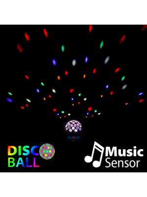 Proiettore disco rotante a led con sensore musica Ø 22 X H 17 CM - multicolor