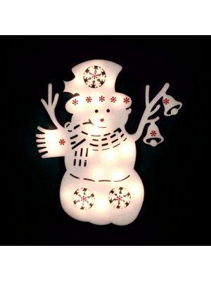 pupazzo di neve a led fatto di spugna