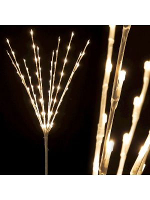 Ramo luminoso bianco H 75 cm 80 led luce fissa bianco classic led reflex