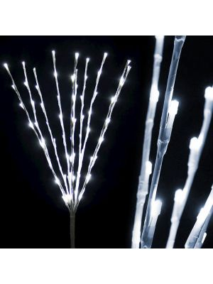 Ramo luminoso bianco H 75 cm 80 led luce fissa bianco ghiaccio luce fredda