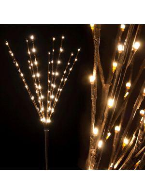 Ramo marrone luminoso H 75 cm 80 led luce fissa bianco classic da esterno