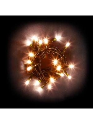 Catena natalizia led 2 m - 20 mini bulbi a luce fissa - reflex - bianco classic