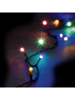 Catena luminosa di Natale 1 m - 10 mini bulbi led a luce fissa - reflex - multicolor