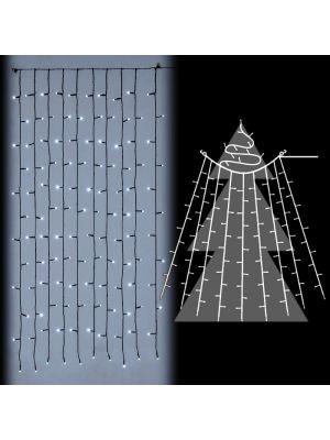 Tenda luminosa per alberi di natale 120 led flashled diamond bianco ghiaccio vetrina