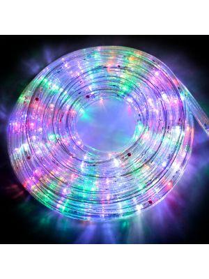 Tubo luminoso a led 8 m in confezione flashled diamond multicolor da esterno