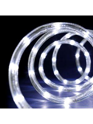 Tubo luminoso a led 9 m con memory controller 8 giochi bianco ghiaccio freddo