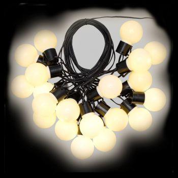 Catena party light da 10 m con 20 lampadine ø50xh60 cm - bianco classic