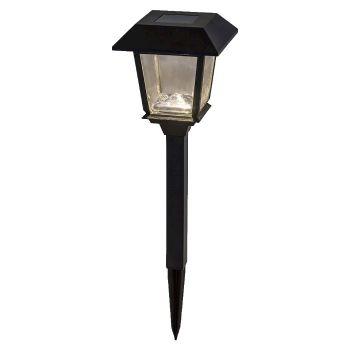 Lampioncino Led quadrato h 48,5 da giardino a batteria solare - luce fissa - bianco classic