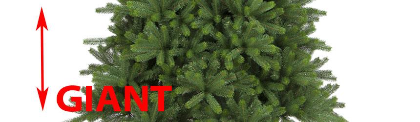 Alberi di Natale professionali in pvc - alti - di grandi dimensioni