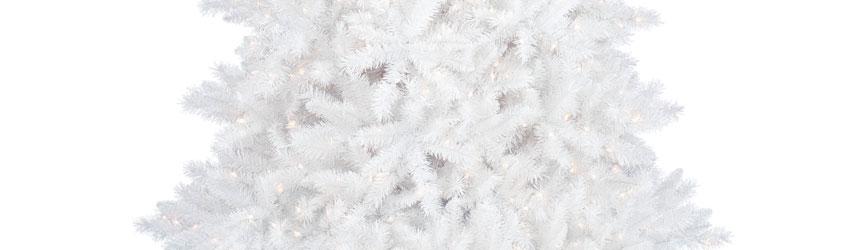 Alberi di Natale in pvc bianchi