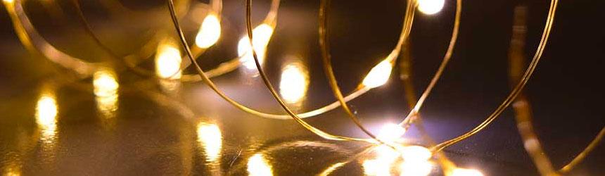 catene di luci di Natale da interno