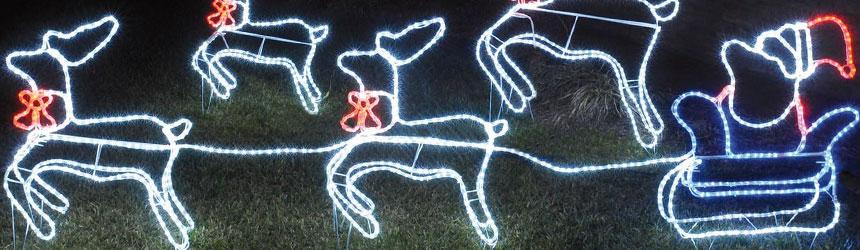 Decorazioni di Natale 3D per esterni