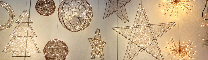 Decorazioni di luci di Natale in formato 3D