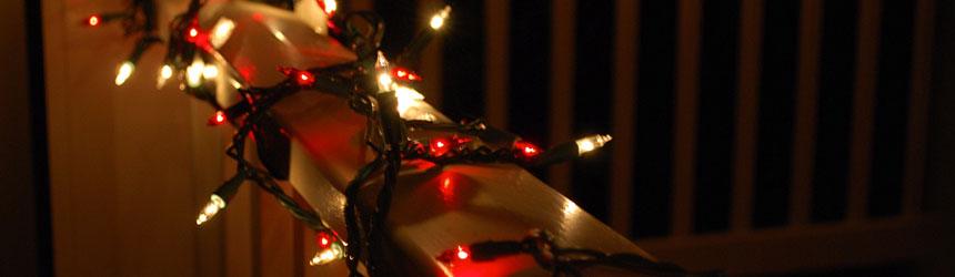 Luci di Natale per il balcone di casa