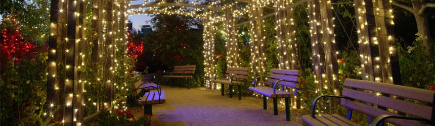 Luci di Natale per il giardino