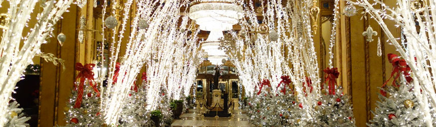 Luci di Natale per Hotel e alberghi