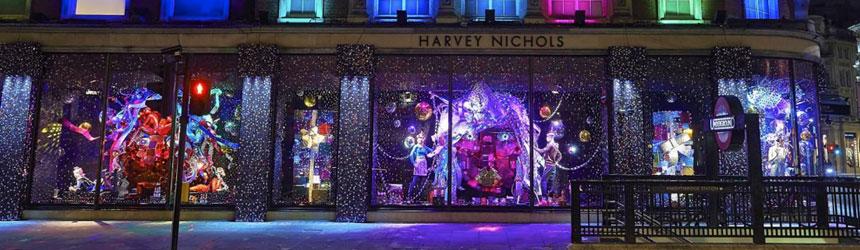 Luci di Natale per esposizioni e showroom