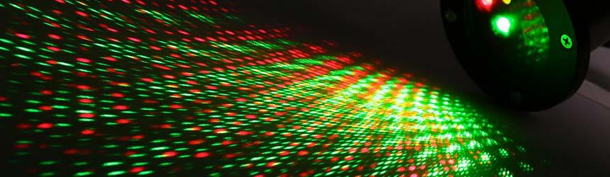 Proiettori luminosi a led e laser
