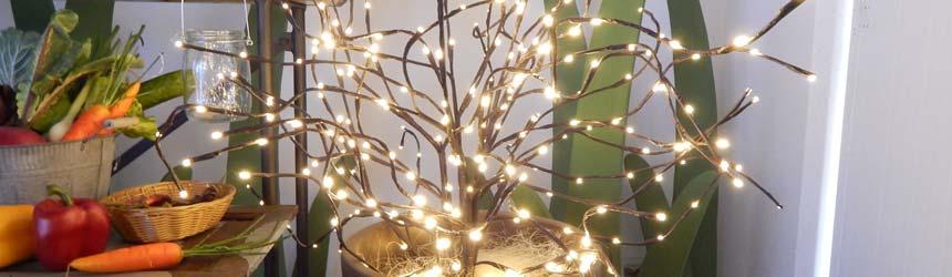 Rami e alberi luminosi con luci a led