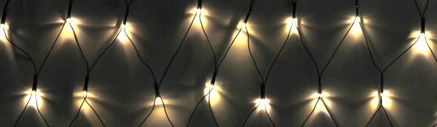 Reti luminose di Natale