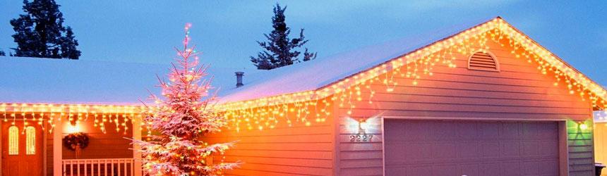 Tende di luci di Natale professionali per esterni